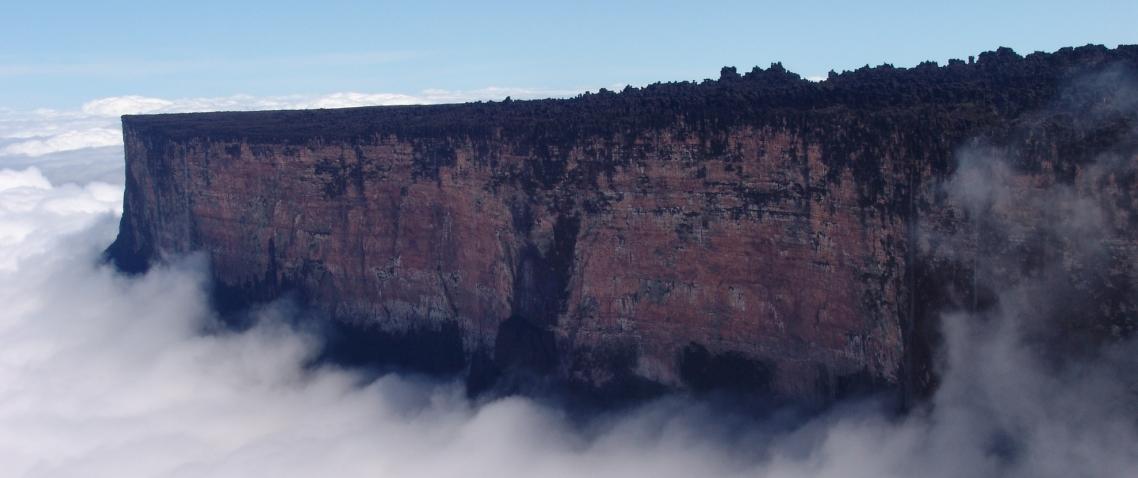 El monte Roraima con nubes
